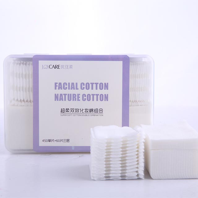 Super soft double effect cosmetic cotton